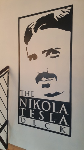 The Nikola Tesla banner